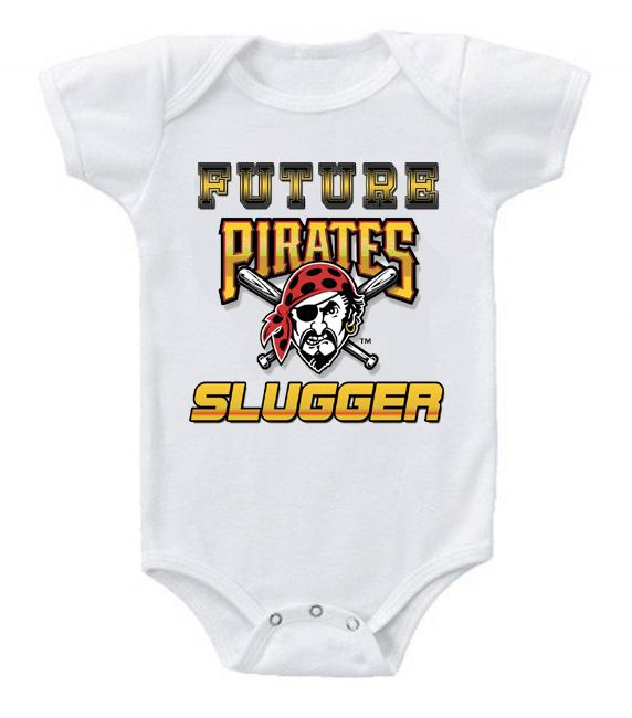 Cute Funny Baby Bodysuits Creeper Baseball MLB Pittsburgh Pirates #5