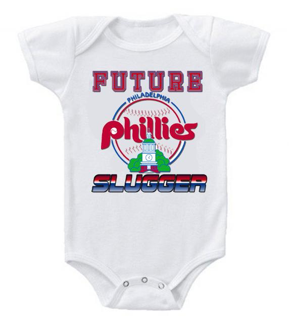 Cute Funny Baby Bodysuits Creeper Baseball MLB Philadelphia Phillies