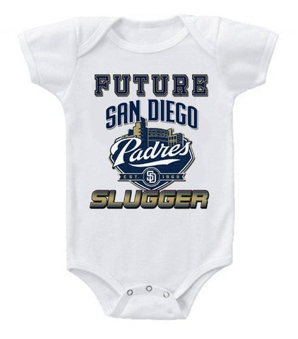 Cute Funny Baby Bodysuits Creeper Baseball MLB San Diego Padres #2