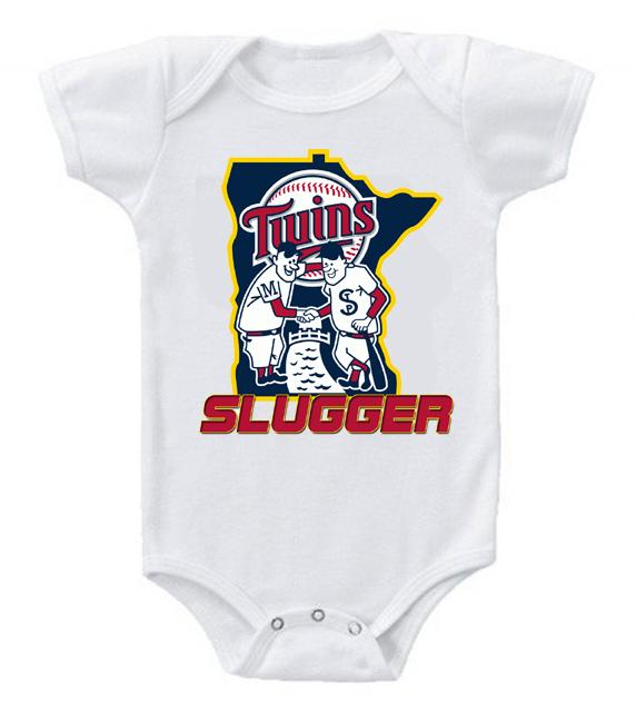 Cute Funny Baby Bodysuits Creeper Baseball MLB Minnesota Twins #4
