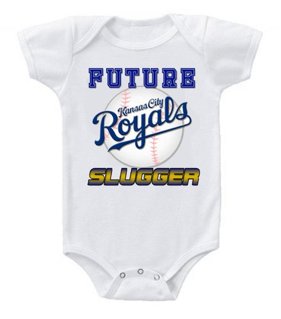 Cute Funny Baby Bodysuits Creeper Baseball MLB Kansas City Royals