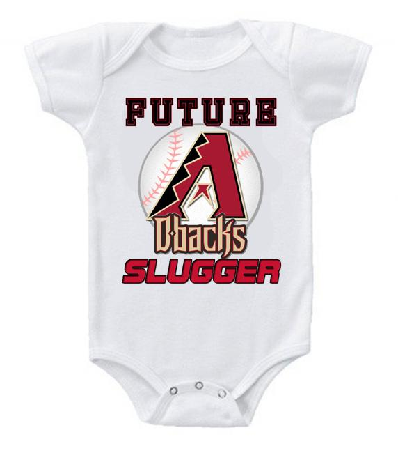 Cute Funny Baby Bodysuits Creeper Baseball MLB Arizona Diamondbacks