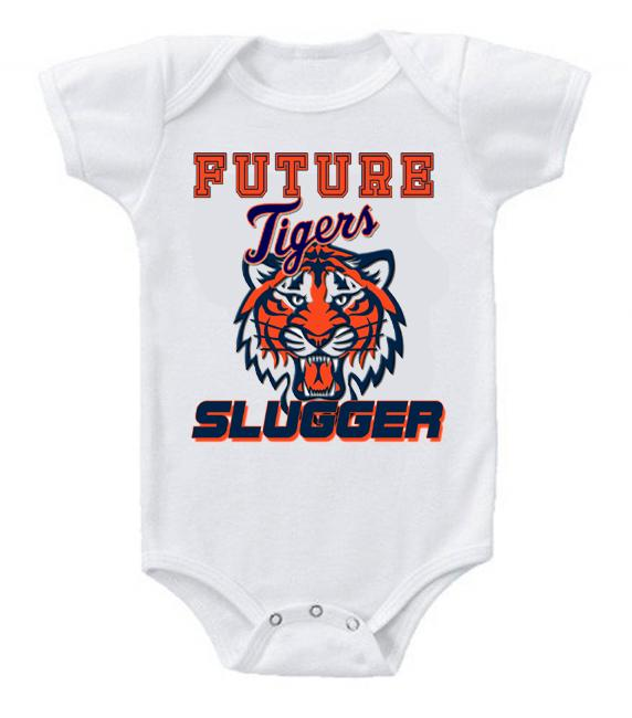 Cute Funny Baby Bodysuits Creeper Baseball MLB Detroit Tigers