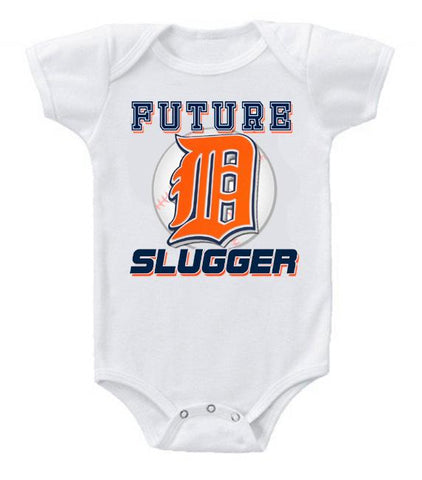 Cute Funny Baby Bodysuits Creeper Baseball MLB Detroit Tigers #3