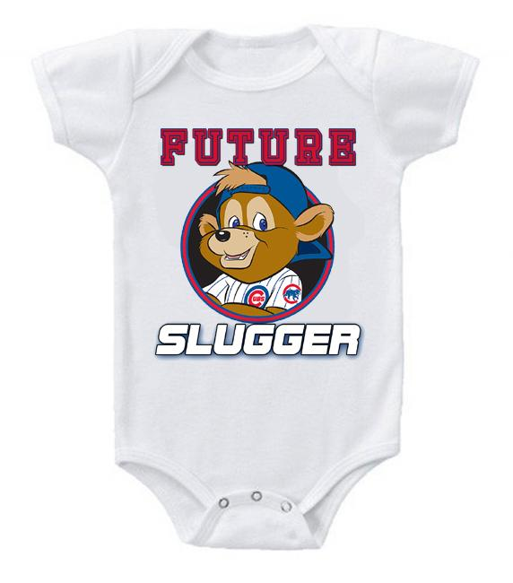 Cute Funny Baby Bodysuits Creeper Baseball MLB Chicago Cubs #5