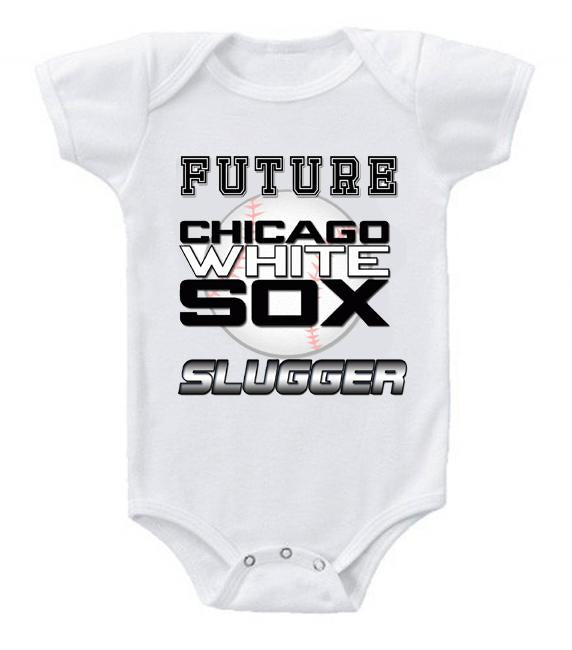 Cute Funny Baby Bodysuits Creeper Baseball MLB Chicago White Sox #3