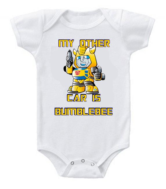 Cute Funny Baby Bodysuits Creeper Transformers Bumblebee Car