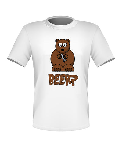 Brand New Fun Custom Bear Beer T-shirt All Sizes Nice!