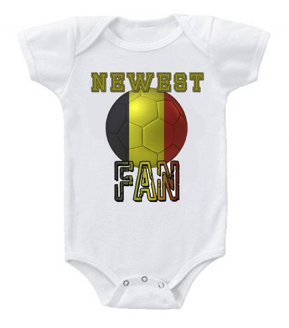 Cute Funny Baby Bodysuits Creeper World Cup Soccer Belgium Newest Fan
