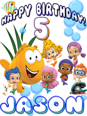 Personalized Bubble Guppies Birthday Shirt T-shirt Everyone Very Cute!