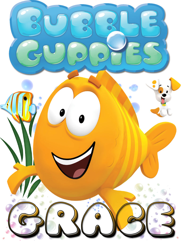 personalized custom name t shirt bubble guppies mr grouper