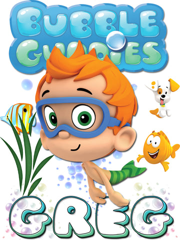 Personalized Bubble Guppies Nonny TV Show T-shirt With Name Tee Shirt NEW Great Gift!