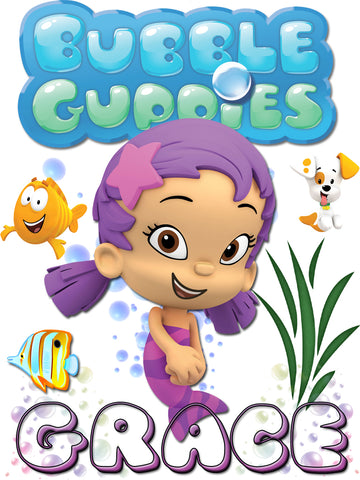Personalized Bubble Guppies Oona TV Show T-shirt With Name Tee Shirt NEW Great Gift!