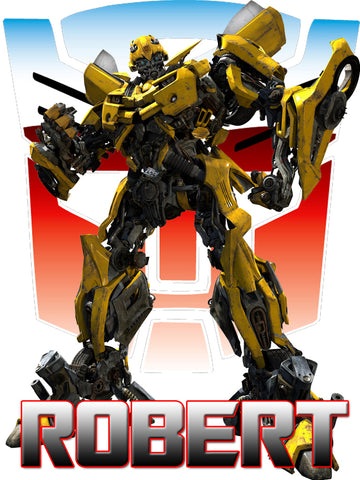 Personalized Transformers Bumblebee T-shirt With Name Tee Shirt NEW Great Gift!