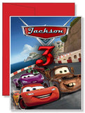 Personalized Birthday Greeting Card Disney Cars Movie