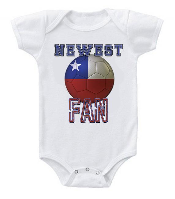 Cute Funny Baby Bodysuits Creeper World Cup Soccer Chile Newest Fan