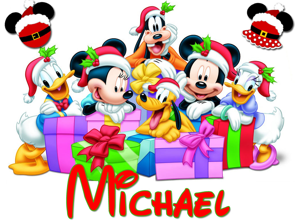 Personalized Disney Family Christmas Shirts T-shirt Mickey Minnie Very Cute! #3