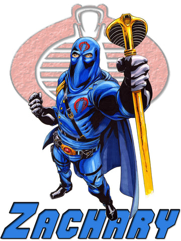 Personalized GI Joe Cobra Commander T-shirt With Name Tee Shirt NEW Great Gift!