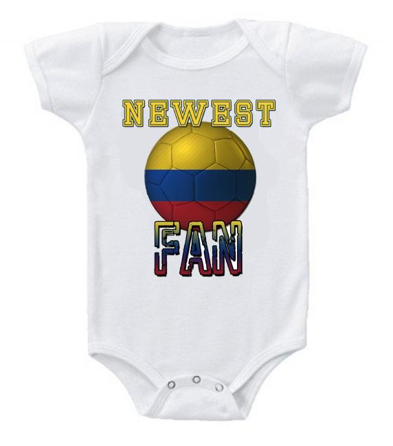 Cute Funny Baby Bodysuits Creeper World Cup Soccer Colombia Newest Fan