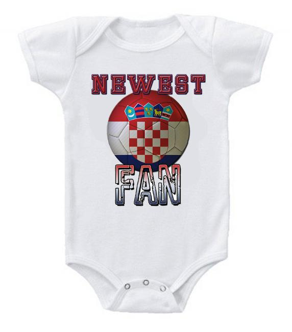 Cute Funny Baby Bodysuits Creeper World Cup Soccer Croatia Newest Fan