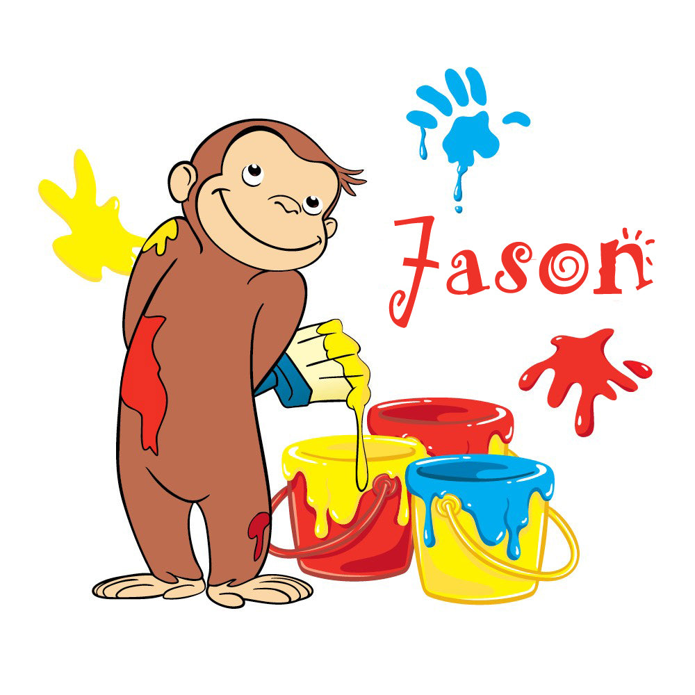 Personalized Curious George T-shirt With Name Tee Shirt NEW Great Gift!