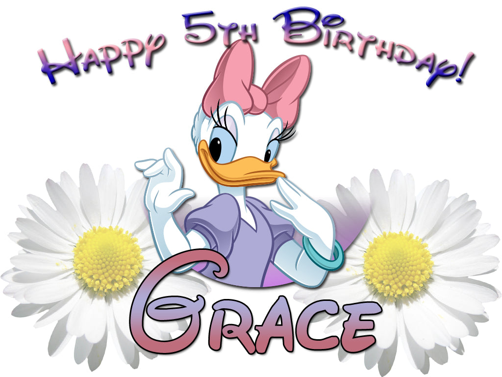 Personalized Custom Disney Daisy Duck Birthday Shirt T-shirt Very Cute!