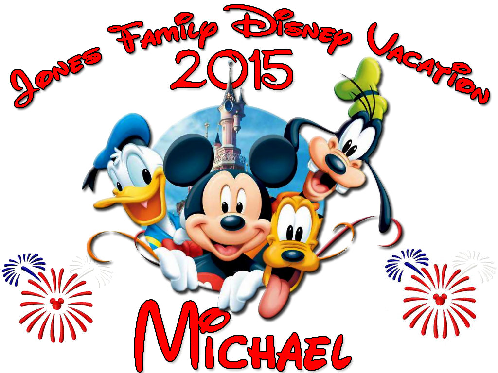 Personalized Disney Vacation Family Shirts T-shirt Mickey Minnie Very Cute! #8