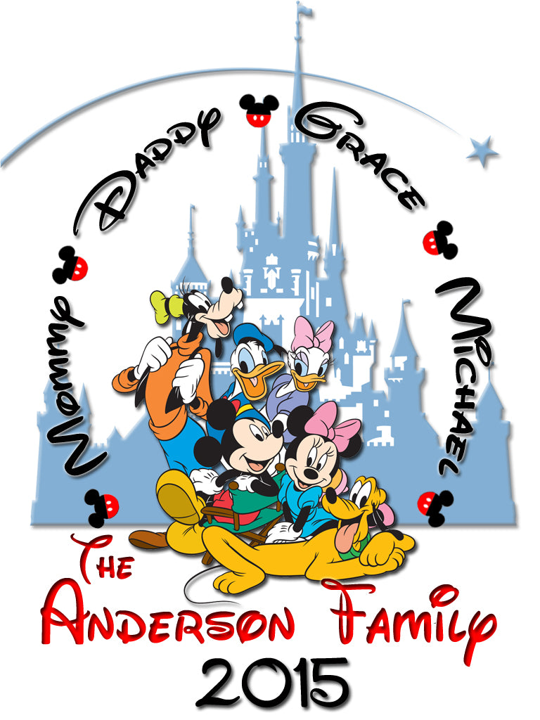 Personalized Disney Vacation Family Shirts T-shirt Mickey Minnie Very Cute! #9