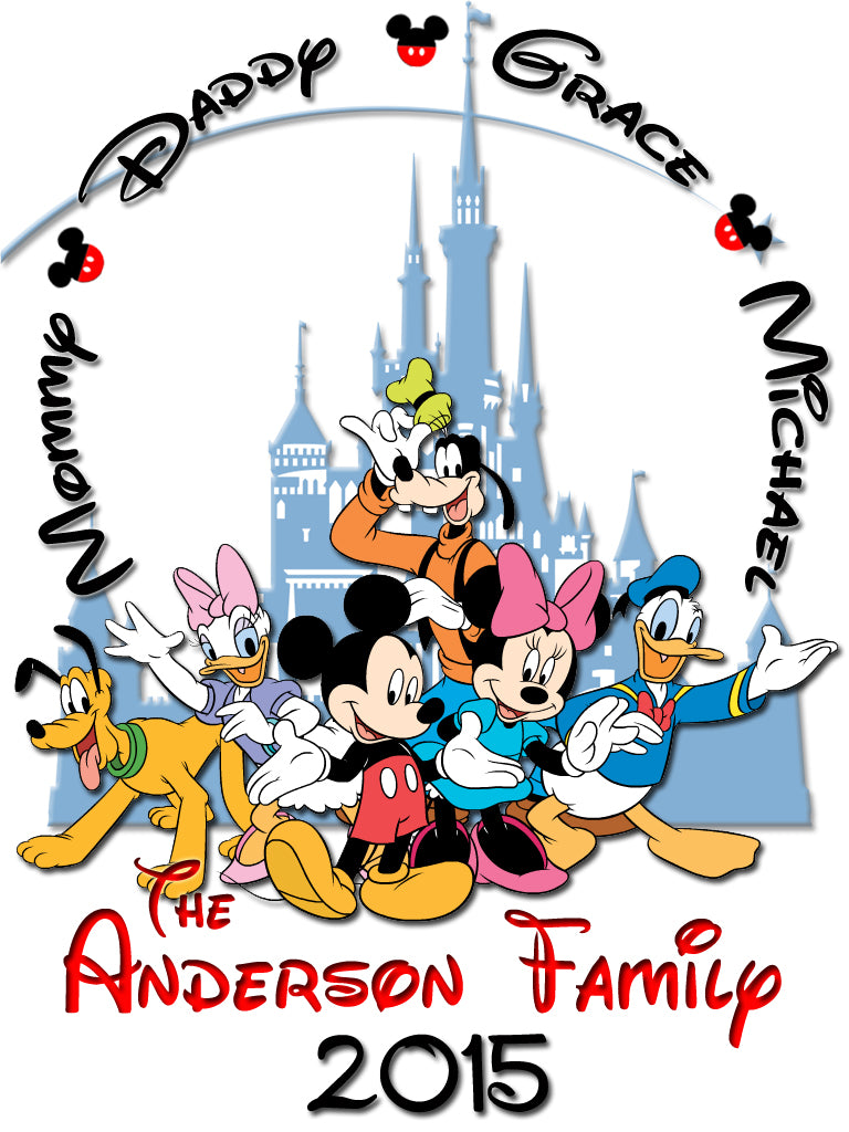 Personalized Disney Vacation Family Shirts T-shirt Mickey Minnie Very Cute! #10