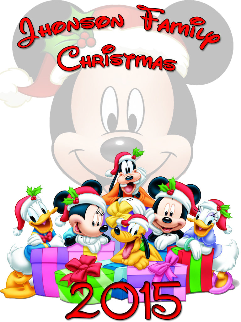 Personalized Disney Family Christmas Shirts T-shirt Mickey Minnie Very Cute! #2
