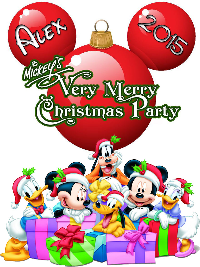 Personalized Disney Family Christmas Shirts T-shirt Mickey Minnie Very Cute!