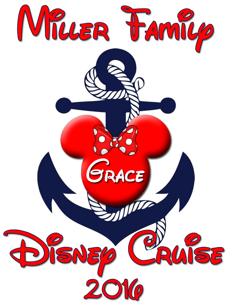Personalized Family Vacation Disney Cruise Shirts T-shirt Mickey Minnie Cute! #9