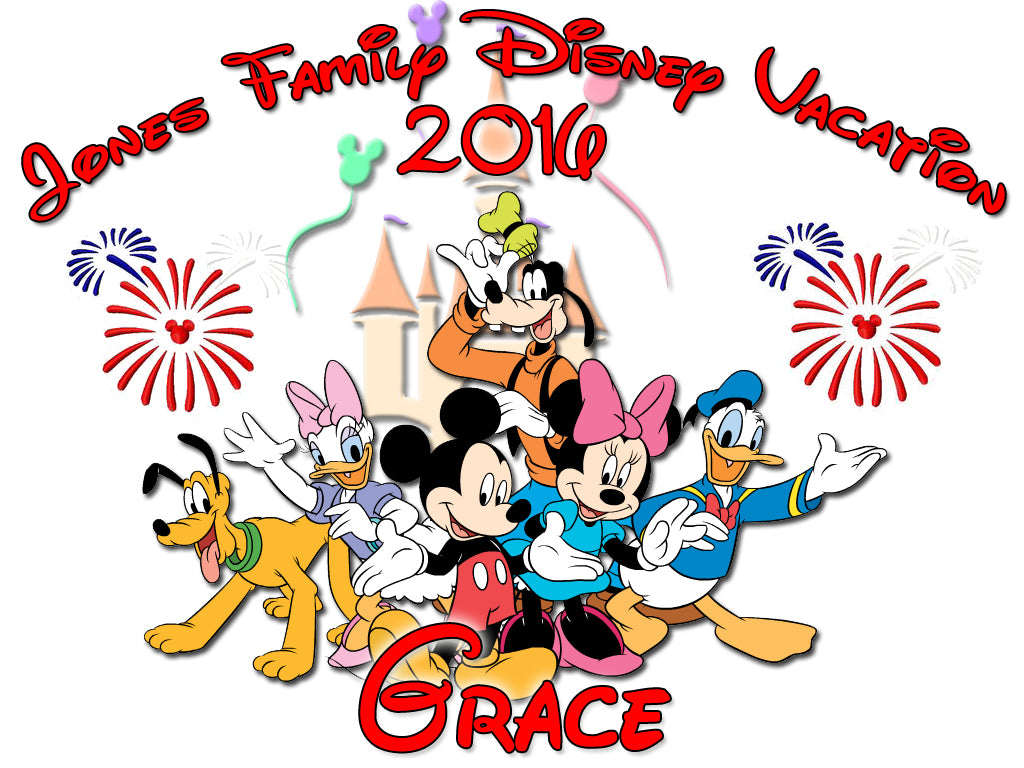 Personalized Disney Vacation Family Shirts T-shirt Mickey Minnie Very Cute! #2