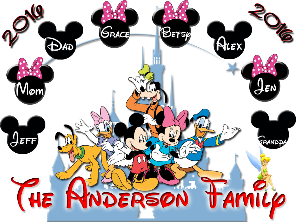 Personalized Disney Vacation Family Shirts T Shirt Mickey Minnie Very Cute 9