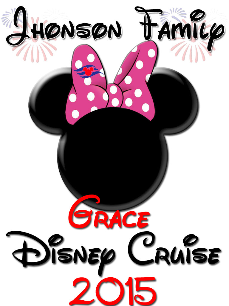 Personalized Family Vacation Disney Cruise Shirts T-shirt Mickey Minnie Cute! #5