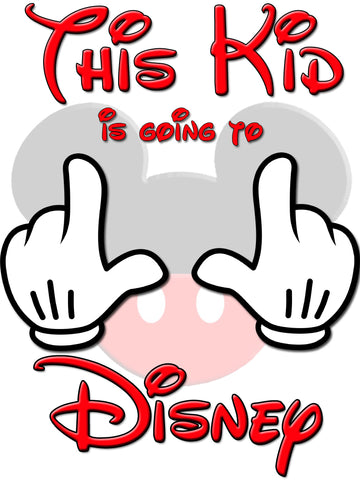 Disney Family Vacation This Kid Going To Disney Shirts T-shirt Mickey Minnie Very Cute!