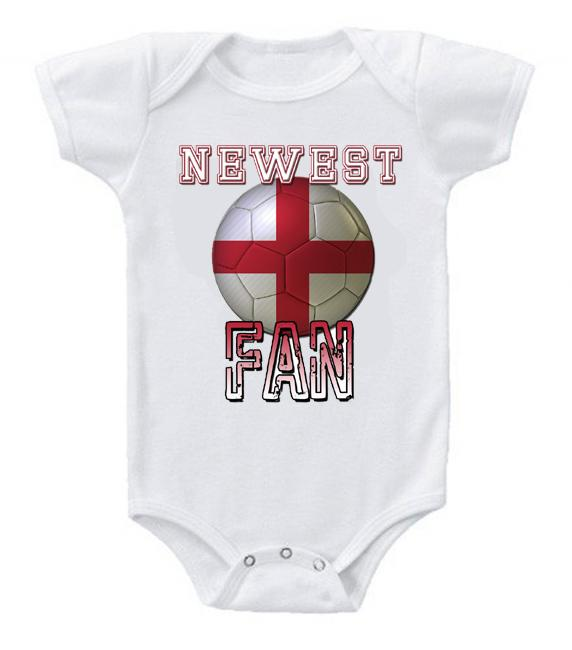 Cute Funny Baby Bodysuits Creeper World Cup Soccer England Newest Fan