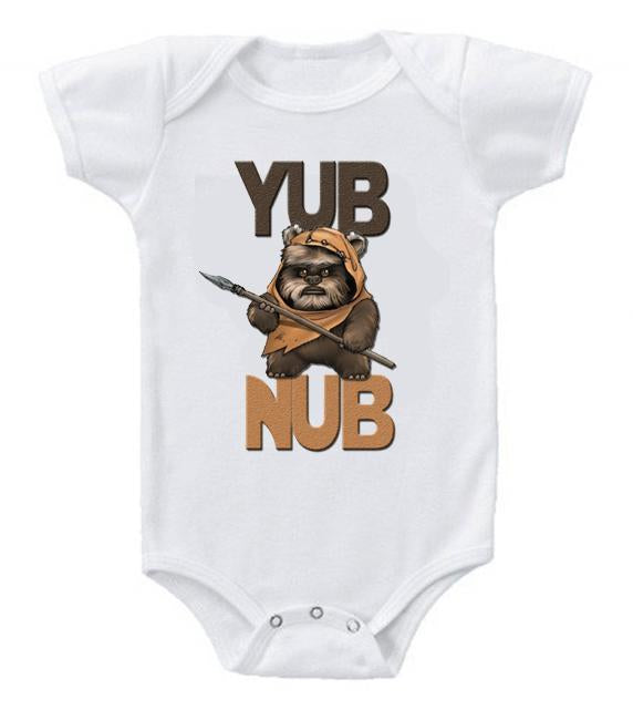 Very Cute Funny Baby Bodysuits Creeper Star Wars Yub Nub