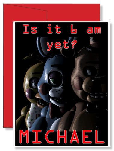 Personalized Birthday Greeting Card Five Nights at Freddy's FNAF