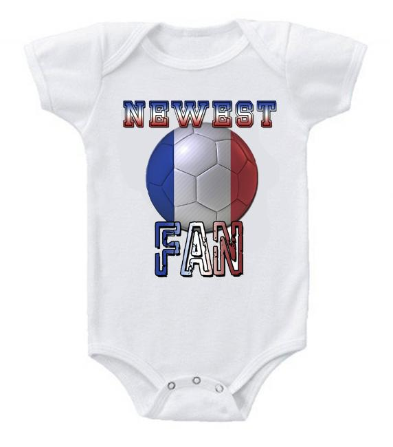 Cute Funny Baby Bodysuits Creeper World Cup Soccer France Newest Fan