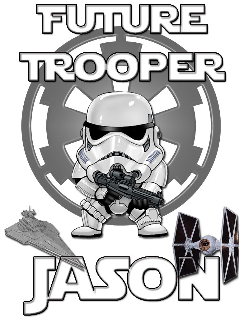 Personalized Star Wars Stormtrooper T-shirt With Name Tee Shirt NEW Great Gift!