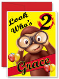 Personalized Birthday Greeting Card Curious George