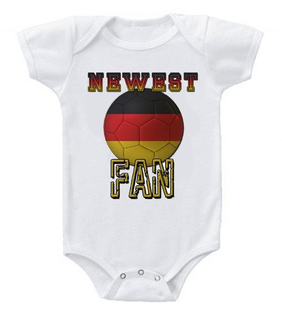 Cute Funny Baby Bodysuits Creeper World Cup Soccer Germany Newest Fan