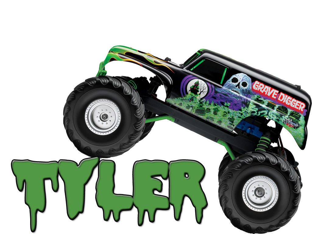 Personalized Grave Digger Monster Truck T-shirt With Name Tee Shirt NEW Great Gift!