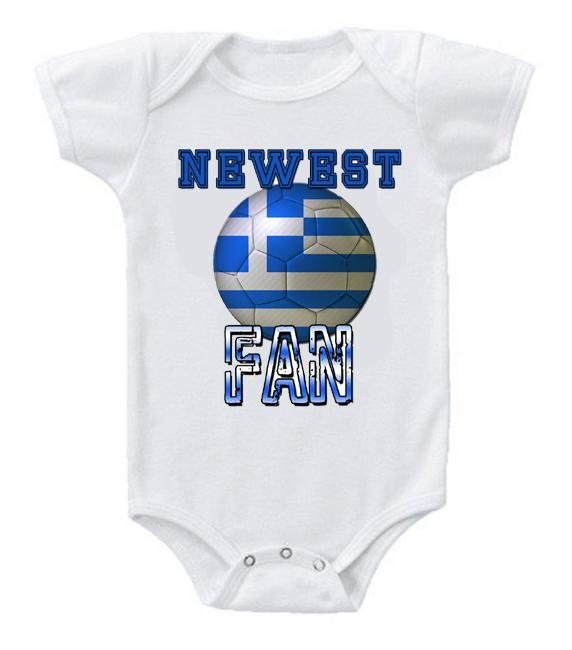 Cute Funny Baby Bodysuits Creeper World Cup Soccer Greece Newest Fan