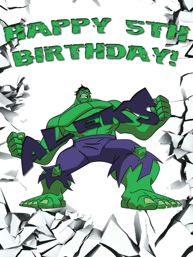 Personalized Custom The Hulk Birthday Shirt T-shirt Very Cute!
