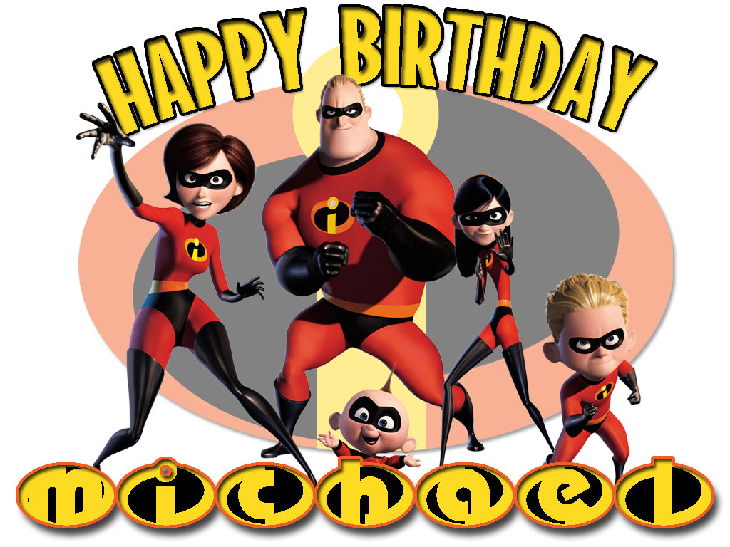 Personalized Custom Disney The Incredibles Birthday Shirt T-shirt Very Cute!