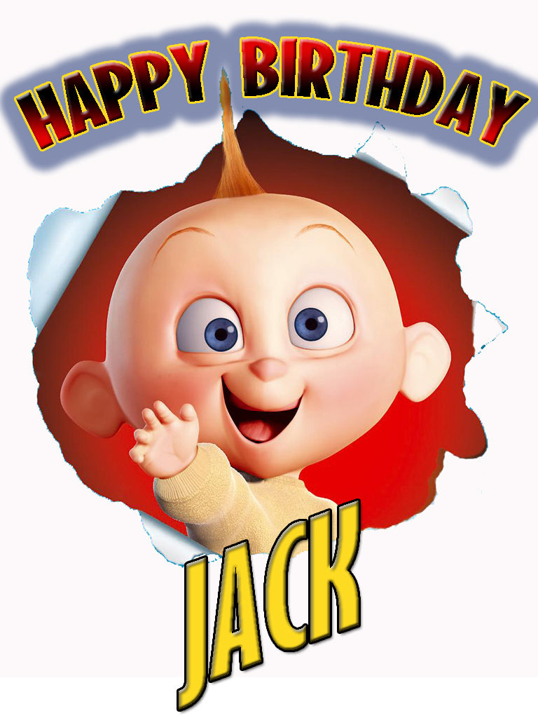 Personalized Custom The Incredibles Jack Jack Birthday Shirt T-shirt Very Cute!