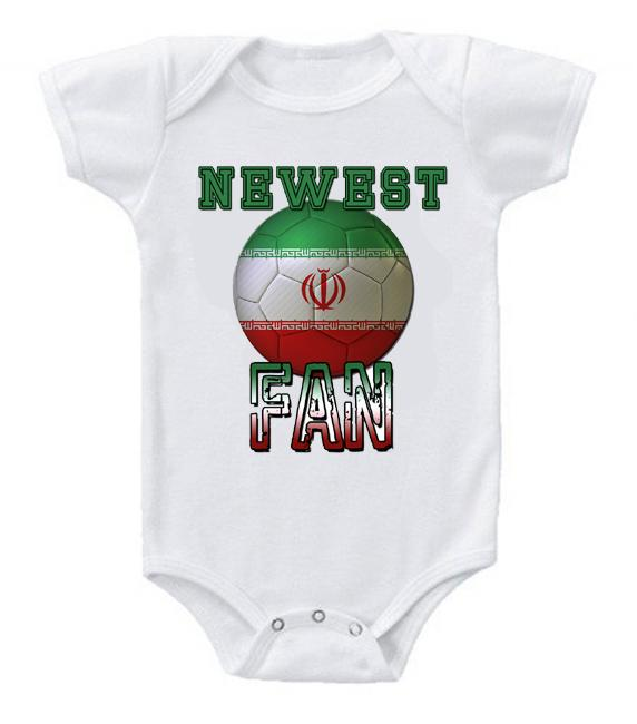 Cute Funny Baby Bodysuits Creeper World Cup Soccer Iran Newest Fan