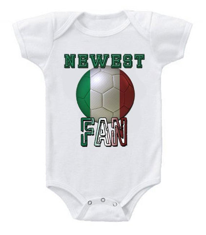 Cute Funny Baby Bodysuits Creeper World Cup Soccer Italy Newest Fan